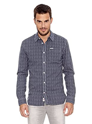 Pepe Jeans London Camisa Hombre Andrew (Azul Oscuro)