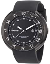 red line Men's 50039-BB-01 Driver Black Dial Black Silicone Watch