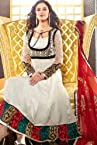 Off White Jacquard and Satin Salwar kameez