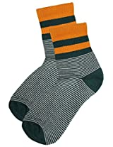 69th Avenue Men's Cotton Socks (Green)