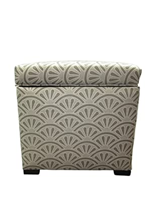 Sole Designs Tami Storage Ottoman, Bonjour Platinum