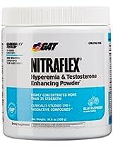 GAT Clinically Tested Nitraflex Testosterone Enhancing Pre Workout, Blue Raspberry,300 Gram