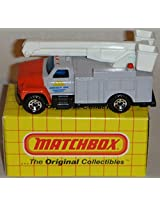MATCHBOX MB33 RED, GRAY AND WHITE ENERGY INC. UTILITY TRUCK 1:83 SCALE BOXED EDITION DIE-CAST