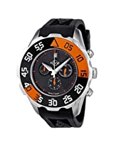 Gv2 By Gevril Parachute Chronograph Rubber Date Men'S Watch - Ger3002R