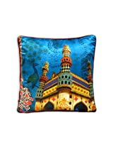 "The Bombay Store PolySilk Cushion Cover - Char Minar (Set of 1pc) L 16"" H 16"""