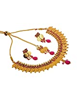 Megh Craft Women Indian Ethnic One Gram Gold Plated Ginni Jewellery
