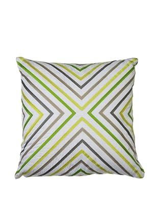 Trina Turk Ikat Decorative Pillow, Yellow/Grey
