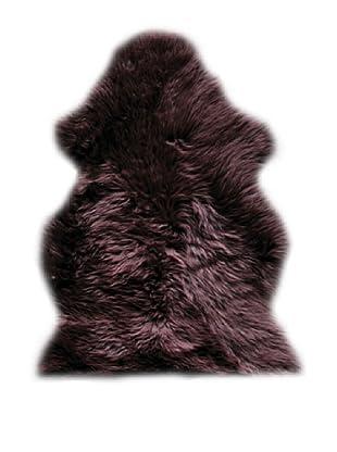 Natural Brand New Zealand Sheepskin Rug, Chocolate, 2' x 3'