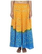 Rajrang Casual Wear Women Long Tie Dye Sequins Skirts
