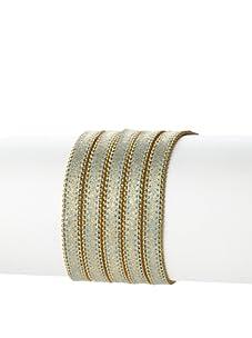 Presh 5-Strand Ball Chain Multi-Wrap Bracelet, Blue Shimmer