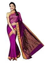 Korni Cotton Silk Banarasi Saree MKS-916- Purple KR0485