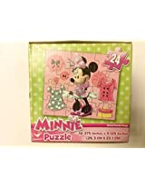 Minnie Mouse 24 Piece Jigsaw Puzzle In Cute Cube Box For Beginners 3+