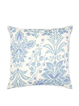 Image by Charlie Azure Decorative Pillow, White/Multi Blues, 20
