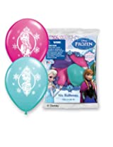 "Pioneer National Latex Disney 12"" Frozen 6 Balloons, Assorted"