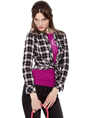 Guess Camisa Cuadros (Negro / Gris / Blanco)