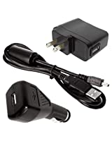 Midland Accessory Value Pack for Midland XTC200. XTC300 and XTC350 Cameras. Includes AC and DC Adaptor for Charging with USB Cable XTAVP-4