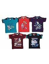 1ly Shirts Boys' Half Sleeve T-Shirt (8906067160089_Multi-Coloured_10-11 Years)