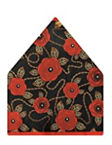 Tiekart Floral Print Polyester Pocket Square (Ps524_Multi-Coloured)