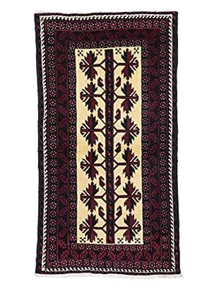 Darya Rugs Authentic Persian Tribal Rug, Red, 3' 2
