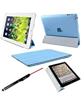 ProElite Smart Flip Case for Apple iPad 2/3/4 (Sky Blue)
