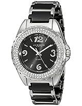 Akribos XXIV Women's AK514BK Ceramic Crystal Bracelet Watch