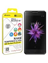 AMZER Kristal Tempered Glass HD Screen Protector for Micromax Canvas Spark 2 - Retail Packaging - HD Clear