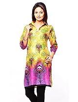 Purab Paschim Women's Cotton Printed Freesia Kurti (20935) Large (OLT20935FAL)