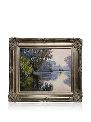 Claude Monet's Morning On The Seine Near Giverny Framed Hand Painted Oil On Canvas