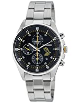 Seiko Black Dial Chronograph Date Watch for Men