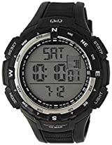 Q&Q Regular Digital White Dial Men's Watch - M131J002Y