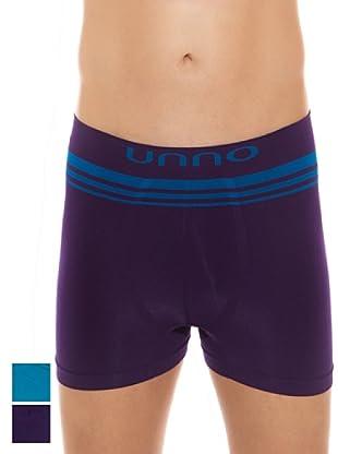 UNNO Boxer Pack x 2 (Turquesa / Azul Marino)