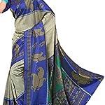 Printed Mysore Crepe Sari with blouse