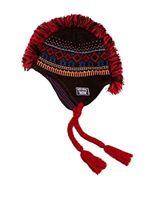 Animal Gorro Lucas (Marrón / Rojo)