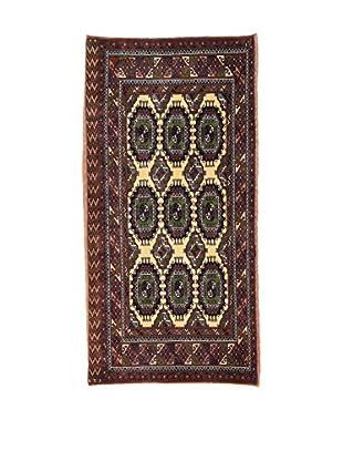L'EDEN DEL TAPPETO Alfombra Bukara.Afgan Marrón/Beige 64 x 132 cm