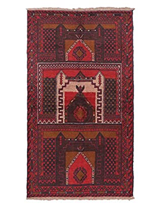 Hand-Knotted Bahor Wool Rug, Red, 3' 8