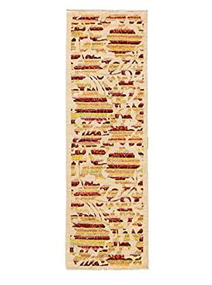 Darya Rugs Arts & Crafts Handmade Rug, Ivory, 3' x 9' 8
