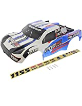 Ae Team Associated 1/10 Pro Sc Pro Lite * Red, White & Blue Body, Decals & Clips *