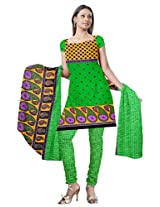 Florence Green Printed Unstitched Suit (SB-1475_Green)