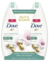 Dove Body Wash, Purely Pampering Pistachio Cream with Magnolia 14.5 ounce, Twin Pack