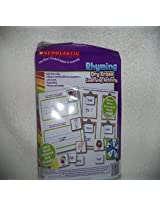 Scholastic Rhyming Dry Erase Learning Activity Game In Resealable Bag Grades K To 2
