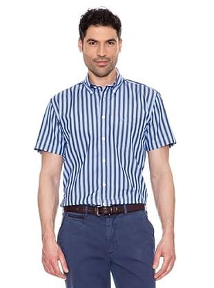 Pedro Del Hierro Camisa Rayas (Azul Oscuro)