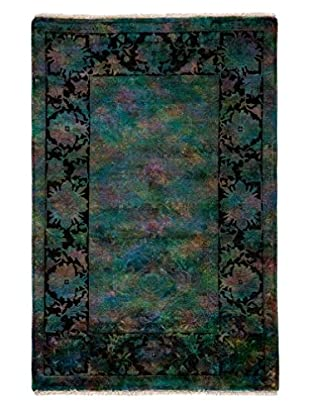 Solo Rugs Transitional Oriental Rug, Blue, 4' 1