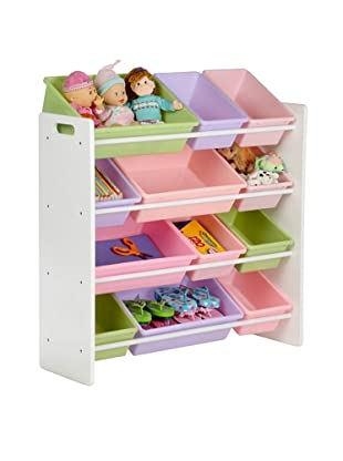 Honey-Can-Do Kids Toy Organizer and Storage Bins (White/Pastel)