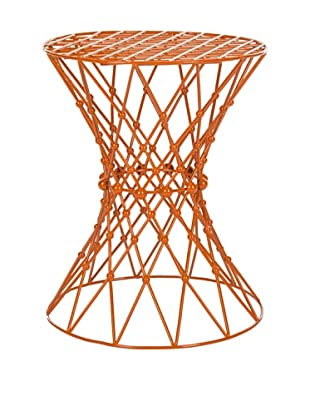 Safavieh Charlotte Iron Wire Stool, Orange