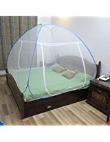 Healthgenie Mosquito Net Double Bed foldable Blue