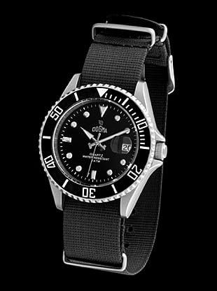 Dogma G7025 - Reloj de Caballero movimiento de quarzo con correa téxtil negro