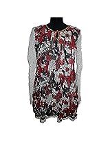 Reednpick Short Floral Print Full Sleeve Ladies Kurti