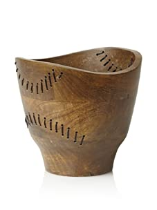 Bliss Studio Tarsus Wood and Wire Bowl (Natural Wood)