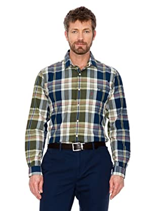 Cortefiel Camisa Cuadros (azul / blanco / verde)