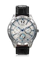 Calvino Men's Silver Dial Watch CGAS-151480_BLK-SILVER